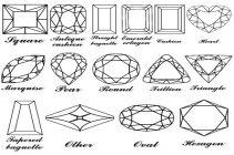 Diamond shapes and diamond designs