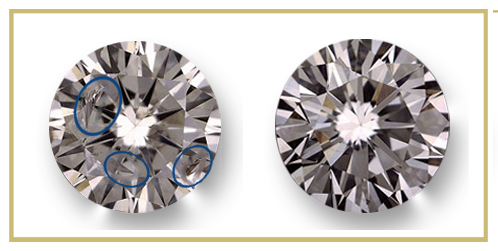 Glogowski diamonds' clarity enhancement procedure's result